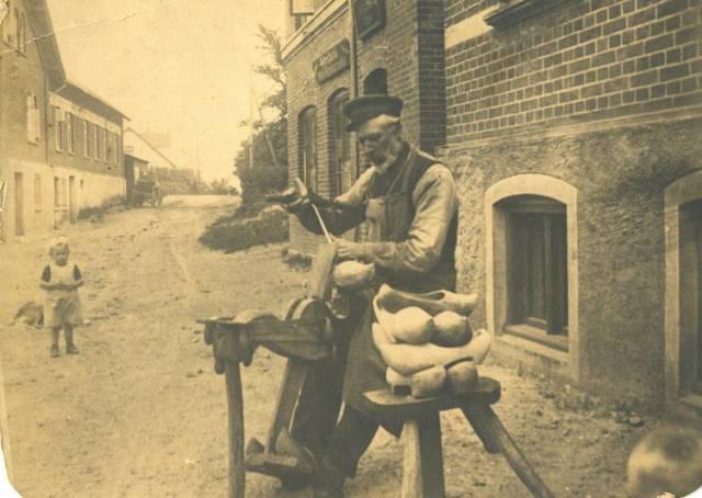 Træskomager ras peter jørgensen hotelvej o 1920