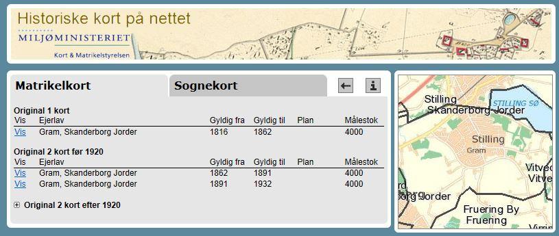 Stilling Og Gram Kort Og Statistik Lokalhistorie